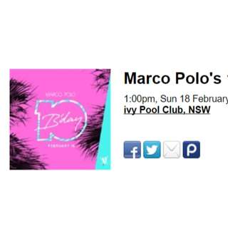 Marco Polo's 10th Birthday Tickets