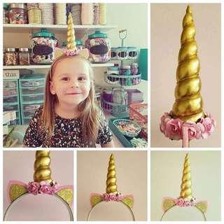 🦄Instock - unicorn hair band, baby infant toddler girl children sweet kid happy