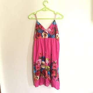 *Repriced* Coco Cabana Hot Pink Beach Dress
