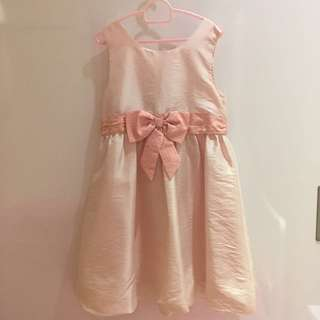 Party Dress pink silky material