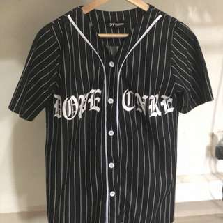 Stripe Hiphop Fashion Style Top with Word