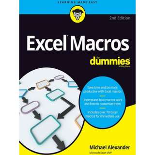 Ebook Excel® Macros For Dummies®, 2nd Edition