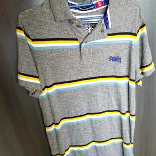 Brand new- Superdry grey polo