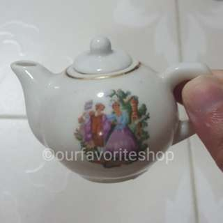 Vintage English Couple Mini Teapot