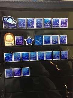 日本星の物語蓋銷郵票C5(已使用)