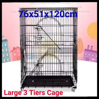 Brand New Large 3 Tiers Cat Cage / Pet CAGE / Night Quality / Cheapest Cage / Birds Cage / Rabbit Cage / KITTEN Cage