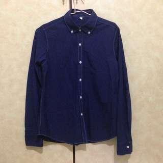 MUJI/ReMUJI藍染襯衫