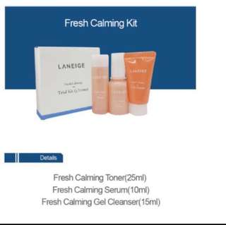 [Clearance] - Laneige Fresh Calming Trial Kit