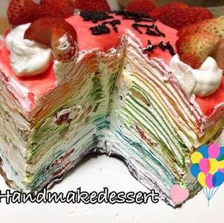 士多啤梨彩虹千層蛋糕