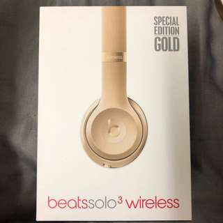 Beats solo3 wireless (GOLD EDITION)