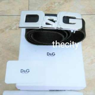 AUTHENTIC D&G (DOLCE & GABANNA) LEATHER LOGO BELT
