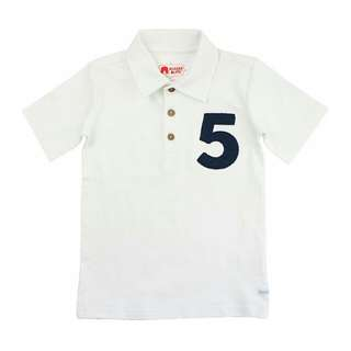 BrandNew Ruggedbutts White Rugby Birthday Number Polo