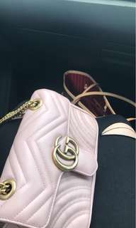 Gucci Marmont mini in Pink leather
