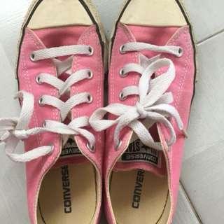 Pink Converse shoe