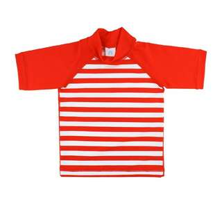BNew Ruggedbutts Red Stripes Rash Guard