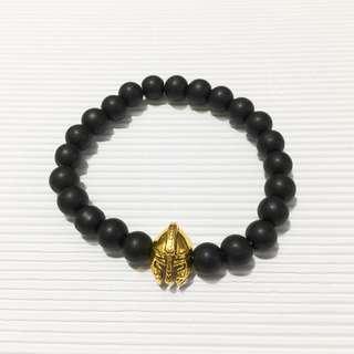 Gold Warrior Beaded Bracelet