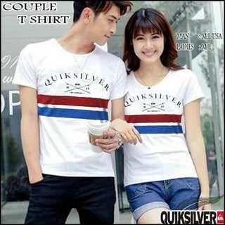 T-shirt couple quiksilver