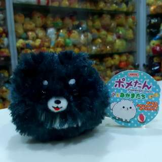 BN Japan Amuse Pometan Pomeranian Plush Mascot Accessory Charm Doll with Chain