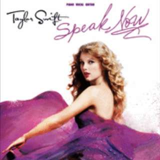 Taylor Swift Speak Now Piano Book