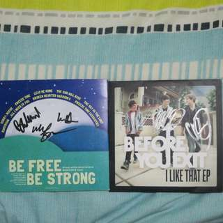 [BUNDLE] SIGNED Before You Exit - I Like That EP and Braiden Wood - Be Free, Be Strong EP