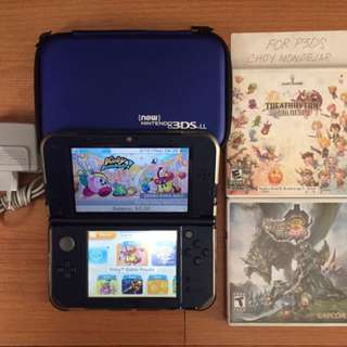 N3DSXL with 3 games
