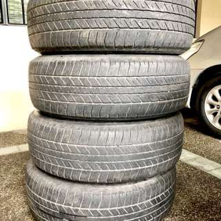 4 units of Tubeless Tires for SUV - 265/65 R17 112S Bridgestone Dueler H/T