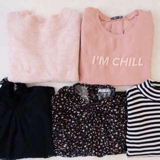Blouse,shirt,sweater 毛衣冷衫,雪紡娃娃領,碎花襯衫
