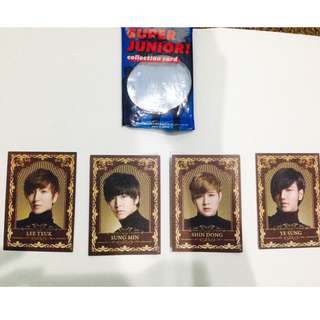 Super Junior Collection Card (only members shown are available)