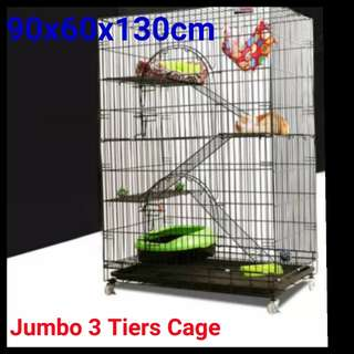 Brand New Jumbo 3 Tiers Cat Cage / Cheapest Cage / Instock Cage / 24 hours Self Collect
