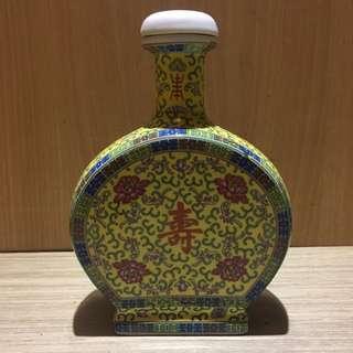 早期雙鹿壽字五加皮空酒瓶 空酒瓶 壽字酒瓶 早期酒瓶 早期收藏酒瓶