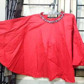 Batwing Red Top
