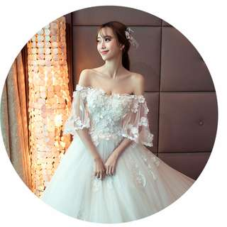 2018 spring new arrival 3d floral wedding ball gown