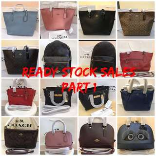 🏮🏮🏮CNY Best Deal! COACH Handbag Series @ ALL READY STOCK!!!