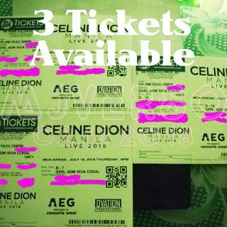 3 Tickets Celine Dion Live in Manila July 19