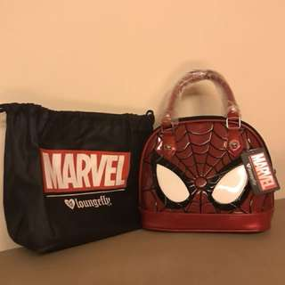 Brand new with tag and dust bag - Loungefly x Marvel Spider-Man Mini Dome Bag