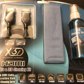 HDMI 1m cable and led cleaning kit