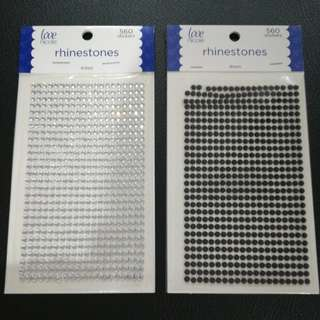 Rhinestones (crystal and black)