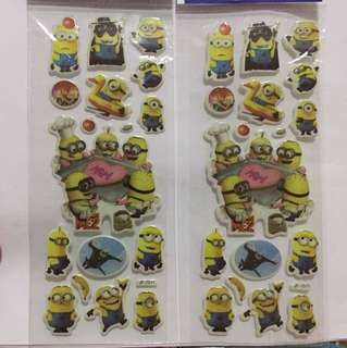 Stickers minion and cat