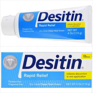 (Restock #2) Desitin Diaper Rash Cream 4oz - Rapid Relief