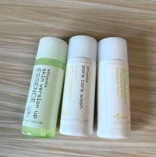 Ettusais pore care wash+skin version up essence