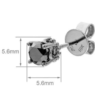 Mabelle 鑽石 耳環 18K金 黑色魅力 (可少議)
