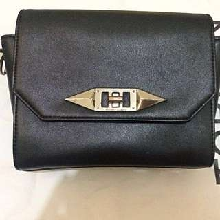 Charles & Keith Turn Lock Sling Bag