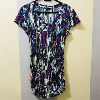 Sofia Vergara Abstract Paint Long Shirt