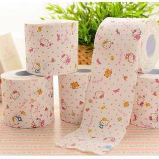 HELLO KITTY CUTE PRINTED TOILET ROLL