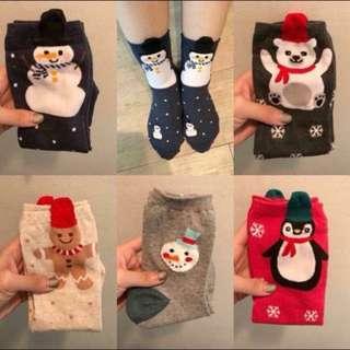 全新韓國製」可愛企鵝保暖棉襪 正韓 韓國空運