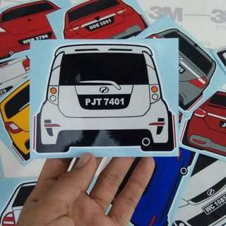 Sticker kereta Custom Made