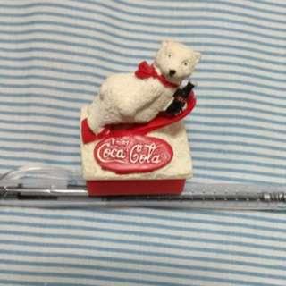 🚚 可口可樂 北極熊  公仔 印章