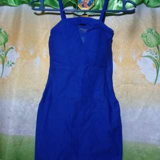 Blue Bodycon fitted dress
