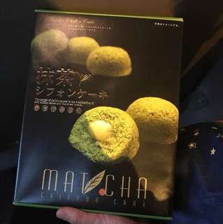 Japan MATCHA Chiffon Cake 日本直送綠茶蛋糕零食