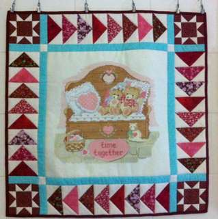 Cross stitch and patchwork wall hanger